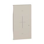 Cover per comando tapparella Wireless 2 moduli - colore sabbia - Bticino Living Now KM43M2