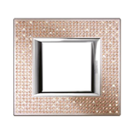 BTICINO HA4802SWL - PLACCA RETTANGOLARE 2 MODULI - SWAROVSKI ELEMENTS LIGHT PEACH