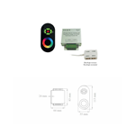 LAMPO KIT-RGB/R2-S/CONV - CENTRALINA RGB A RADIOFREQUENZA
