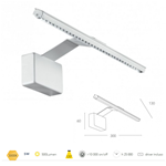 Applique per specchi o quadri in alluminio bianco LED 5 watt 3000K - Fan Europe Intec LED-W-ALCOR/5W BCO