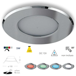 Faretto da incasso LED per cromoterapia, docce e vasche in alluminio cromato 5W RGBW IP65 - Fan Europe INC-RAINBOW-M