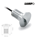 Faretto led da incasso a pavimento carrabile 3W 12Vdc 4000K 250LM IP67 - Lampo GRLED3W1RBN