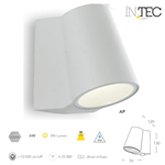 Applique Led SINTESI da esterno bianco 6W 390LM 4000K IP44 - Fan Europe Intec LED-SINTESI-AP BCO