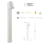 Paletto led SINTESI bianco da giardino 6W 390LM 4000K IP44 - Fan Europe Intec LED-SINTESI-P BCO