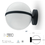 Applique lampada  a sfera da parete per esterno Orbit 1XE27 IP44 - Fan Europe LANT-ORBIT/AP