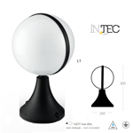 Lampioncino a sfera per esterni ORBIT nero 1XE27 IP44 - Fan Europe Intec LANT-ORBIT/L1