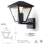 Applique a parete verso alto PRISMA antracite 1XE27 IP44 - Fan Europe Intec LANT-PRISMA/AP1A