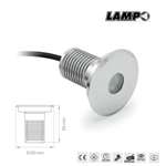 Faretto led da incasso a pavimento carrabile 3W 12Vdc 3000K 230LM IP67 - Lampo GRLED3WOPBC