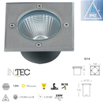 Faretto segnapasso led quadrato calpestabile da esterno 12W 750LM 4000K IP67 IK10 - Fan Europe Intec LED-WALK-Q14