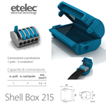 Mini box isolato in gel + 1 connettore Shell Box 215 - Etelec MJB215