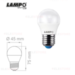 Lampadina LED a sfera bianco latte 6W E27 230V 220° 3000°K - Lampo SF456WE27BC