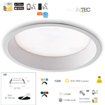 Faretto da incasso led bianco dinamico RGB+WiFi 12W RGB WIFI - Fan Europe INC-XANTO-R120-INT
