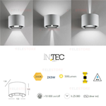 Applique led da esterno silver 2x3W - Fan Europe LED-W-DELTA/6W