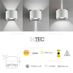 Applique led da esterno bianca 2x3W - Fan Europe LED-W-DELTA/6W BCO