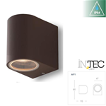 Applique a parete monoemissione corten 1XGU10 IP54 - Fan Europe Intec I-ONE-AP1-BRO
