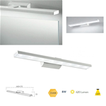 Applique bagno per specchi o quadri in alluminio bianco LED 8W 3500K - Fan Europe Intec LED-W-ANTARES/8W-BCO