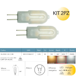 Kit 2pz lampadine led G4 12V AC/DC 1,5W 120LM 4000K 360° - Fan Europe Intec KLASSIC-G4-1,5M