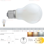 Lampadina LED filamento bianco latte E27 8W 1055LM 2700K 300° - Fan Europe LUXA-B-E27-8C