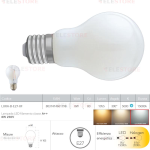 Lampadina LED filamento bianco latte E27 8W 1055LM 5000K 300° - Fan Europe LUXA-B-E27-8F