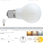 Lampadina LED filamento bianco latte E27 8W 1055LM 4000K 300° - Fan Europe LUXA-B-E27-8M