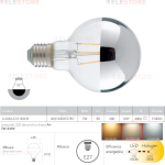 Lampadina filamento LED cromo E27 7W 680LM 4000K 360° - Fan Europe I-LUXA-E27-80CR